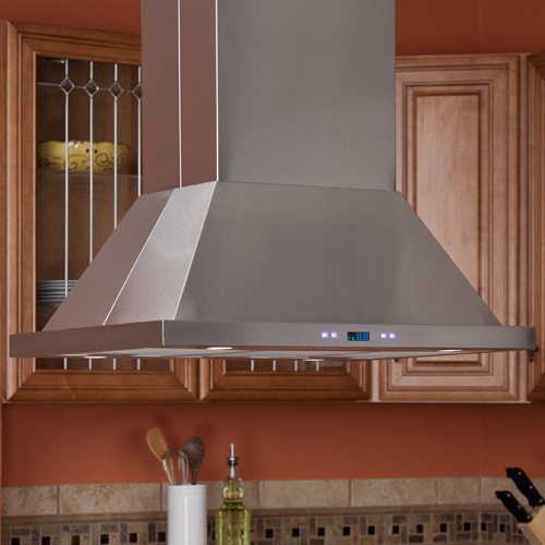 """30"""" Arezzo Series Stainless Steel Island Range Hood - 900 CFM contemporary-kitchen-hoods-and-vents"""