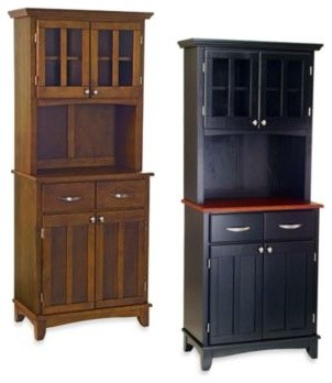 Home Styles Cherry Wood Top Small Buffet/Server with Hutch - Contemporary - Buffets And ...