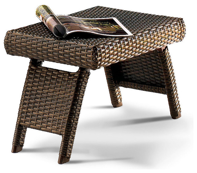Balencia Bronze Rectangular Outdoor Side Table, Patio Furniture traditional-side-tables-and-end-tables