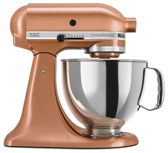Kitchenaid ksm152pscp custom metallic series 5 quart mixer for Kitchenaid f series accessories