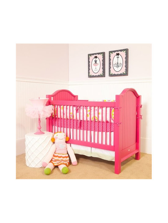 Hampton Beadboard Crib - For someone who prefers a shot of color, this crib is the piece for you.