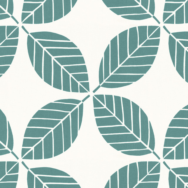Off Tropic In Teal Outdoor Fabric New York By Loom Decor