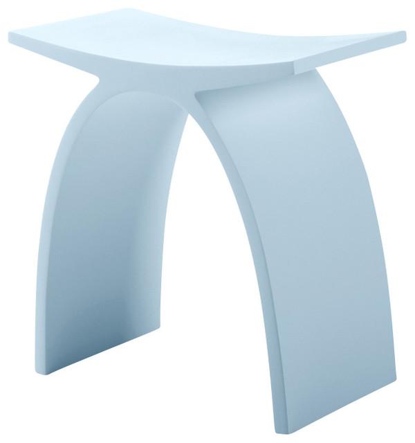 Adm matte white stone resin bathroom stool contemporary for White bathroom stool