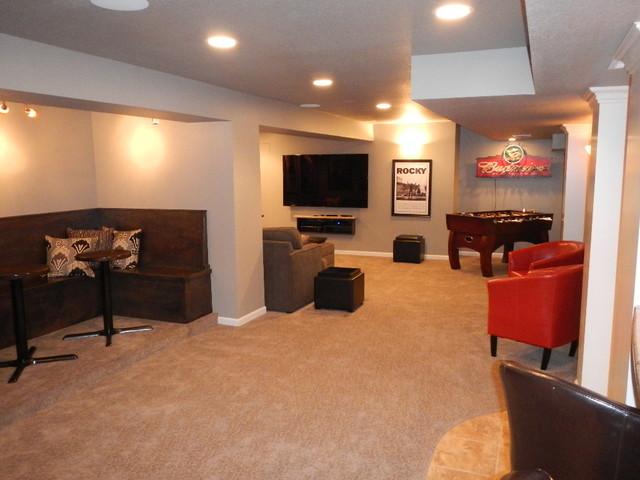overland park ks basement entertainment center contemporary