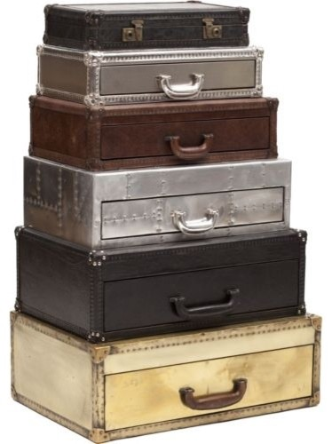 Regiment Suitcase Stack Chest - Eclectic - Armoires And Wardrobes - by High Fashion Home