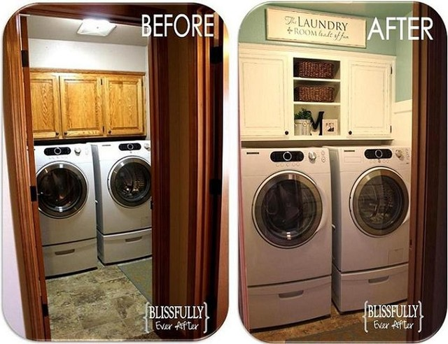 $100 Laundry Room Makeover traditional