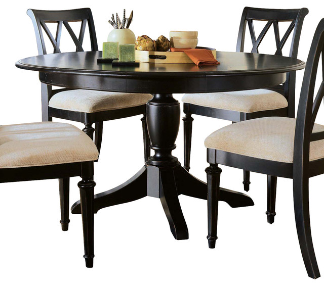 american drew camden dark round dining table