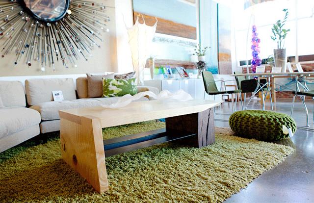 Torrey Pine & Euc Timber Coffee Table modern-coffee-tables