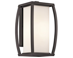 Kichler Lighting 49338AZ Bowen Bronze Outdoor Wall Sconce transitional-outdoor-lighting