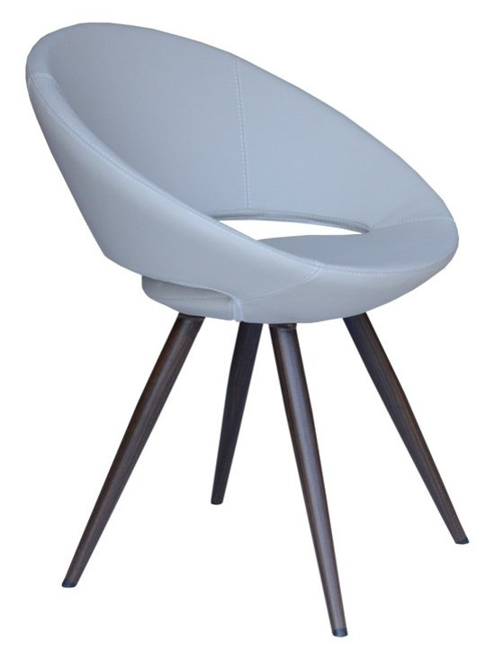 """Crescent Star Chair by sohoConcept - Crescent Star is a unique dining chair with a comfortable upholstered seat on a steel frame. Metal legs available with black powder, natural as well as stainless steel finishes. Each leg is tipped with a plastic glides. The seat has a steel structure with """"S"""" shape springs for extra flexibility and strength. This steel frame molded by injecting polyurethane foam. Crescent seat is upholstered with a removable zipper enclosed leather, leatherette or wool fabric slip cover. This chair with metal legs is especially made for commercial applications."""