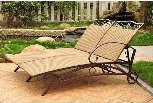 Valencia Double Chaise Lounge modern-outdoor-chaise-lounges