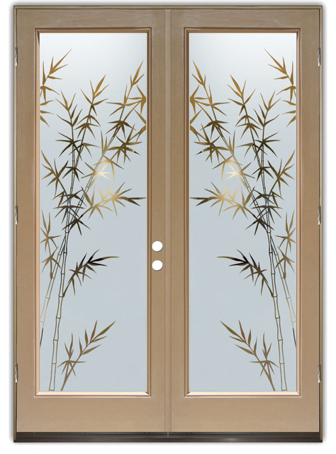 Glass front doors glass entry doors bamboo forest for Front door glass design
