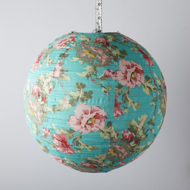 Floral Fabric Light Shade Eclectic Lamp Shades By