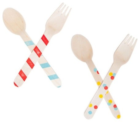 Wooden Party Utensils contemporary-flatware