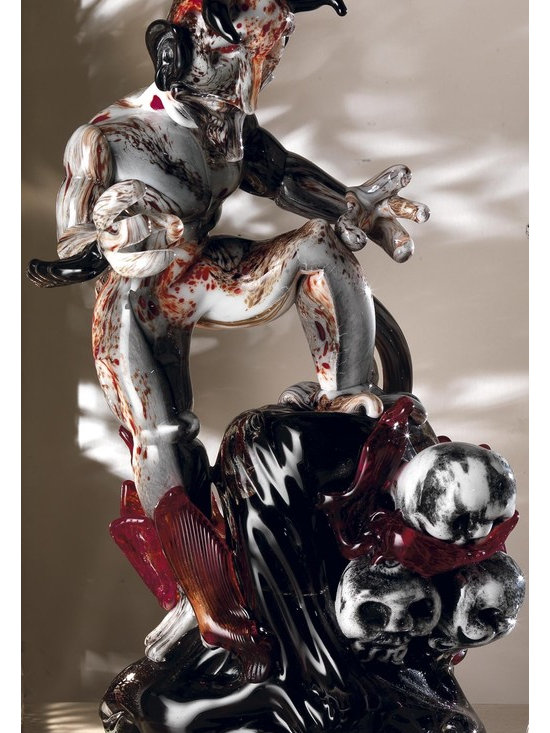 Murano Glass Sculptures and Figurines - Murano Glass Belzebu figurine - COA and made to order.  More available so please contact us