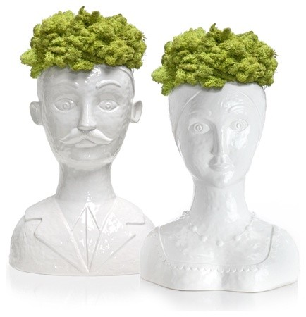 Male and Female Bust Vases eclectic vases