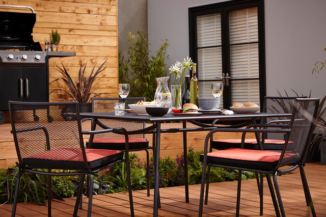 Adelaide Metal Garden Furniture Set Contemporary