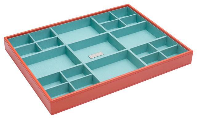 Stackables Large Standard Tray, Orange - Modern - Closet Storage