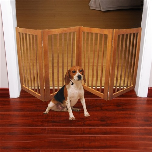 Wood Pet Gates Indoor. Sale Tall Wood Dog Gate Dynamic Accents ...