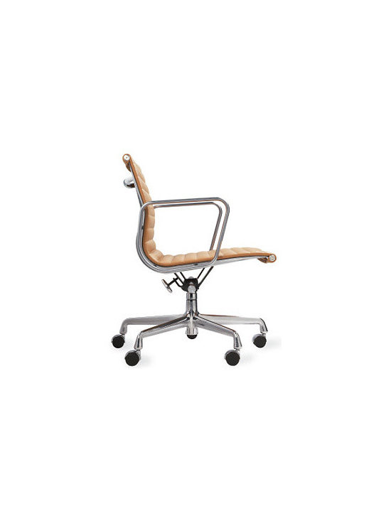 Eames Aluminum Management Chair, Vicenza Leather, Tobacco - A personal favorite, this desk chair is as comfortable as it is stylish.