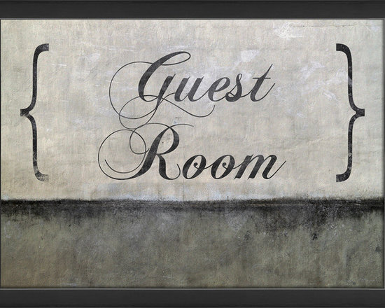 The Artwork Factory - 'Guest Room' Print - Make every guest feel right at home with a sign created especially for them. Utilizing a fanciful font in a gray and black color scheme, it's well-suited to hang on any smaller wall space, or on the door that leads to your guest chambers. Printed on acid-free, fade-resistant paper, it's a functional-yet-elegant piece of art.