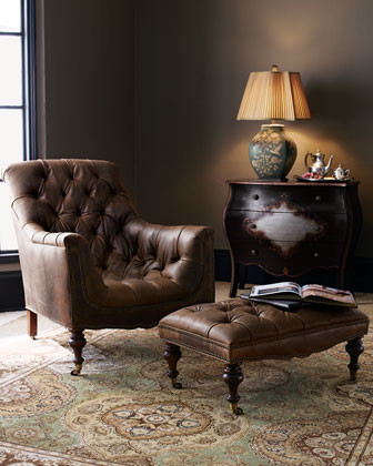 Old Hickory Tannery Tufted Ottoman traditional-footstools-and-ottomans
