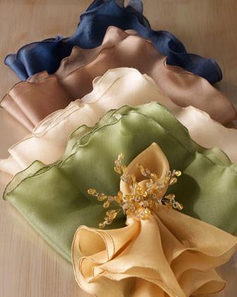 Kim Seybert Four Silk Organza Napkins traditional-napkins