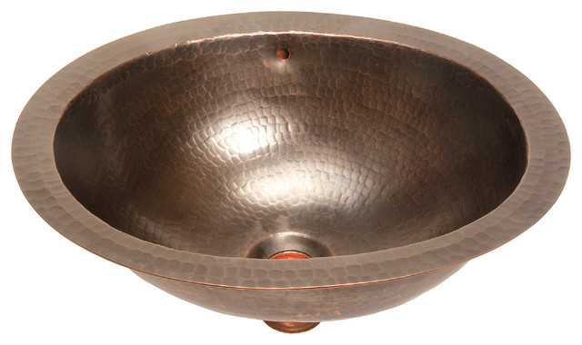 Belle Foret Model BFC11 ORB Small Oval Lavatory  Self-Rimming Copper Sink bathroom-sinks