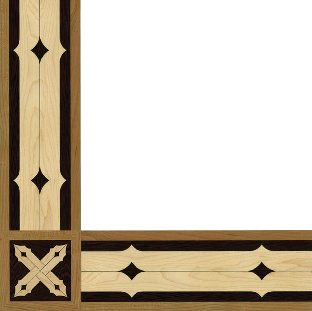 Oshkosh designs baltersan inlay border and corner Hardwood floor designs borders