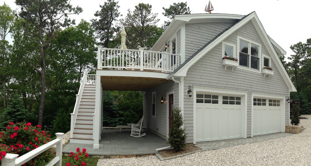 detached garage with deck loft