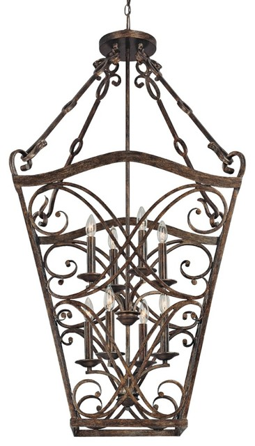 "Rustic - Lodge Reserve Collection 8-Light 25"" Wide Foyer Chandelier traditional chandeliers"