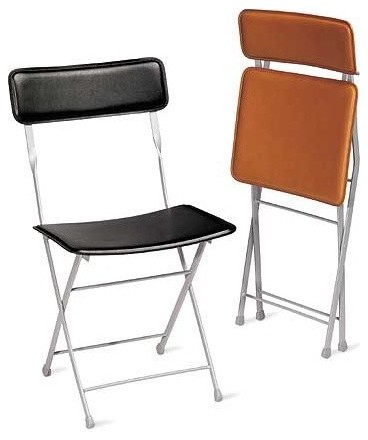 Lina Leather Folding Chair | Design Within Reach contemporary-folding-chairs-and-stools