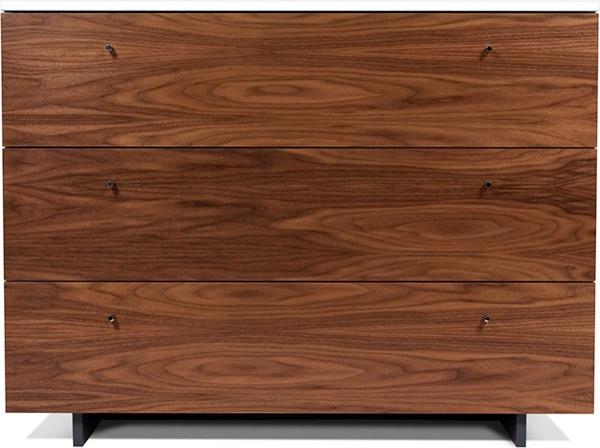 Spot on Square - Roh Dresser Walnut/White modern-dressers