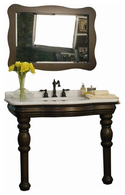 Belle Foret Model C50101 Wood Console Lavatory and Mirror  bathroom vanities and sink consoles