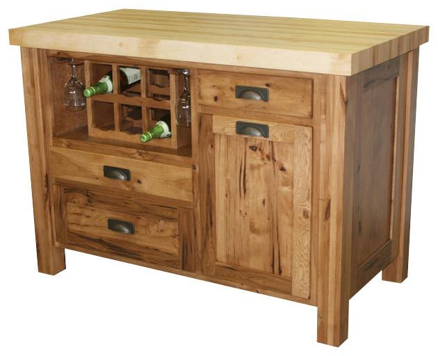 chelsea home sandra kitchen island in rustic hickory custom work hickory kitchen island woodkith
