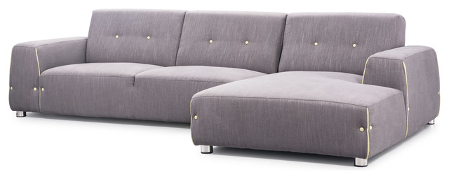 Linkoping Sectional Lhf Slate Gray Body Lime Detail