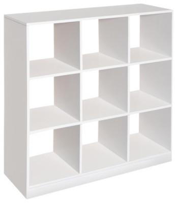 3x3 Storage Unit White Contemporary Storage Cabinets