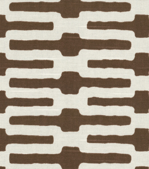 Home Decor Fabric-Annie Selke Links Chocolate fabric
