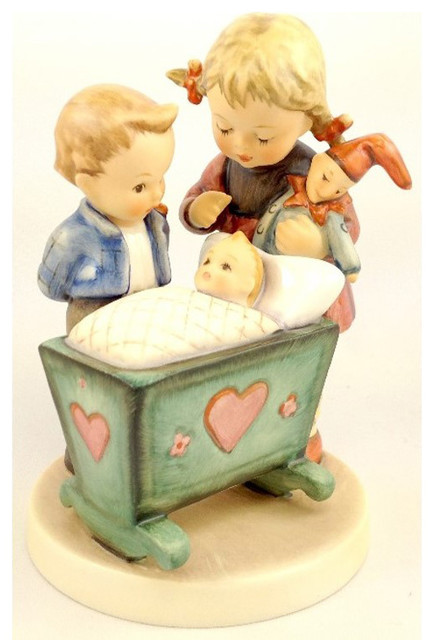 M I Hummel 'Blessed Event' Porcelain Statue contemporary-garden-statues-and-yard-art