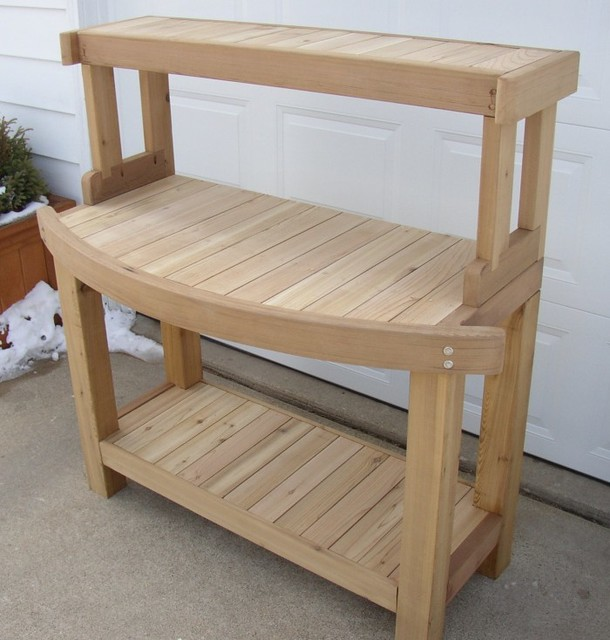 Outdoor furniture trellises planters potting benches potting benches other metro by Potting bench ideas