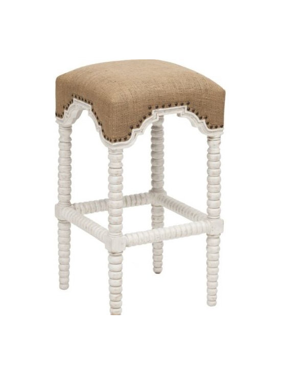 Abacus Barstool, White - http://www.highfashionhome.com/abacus-barstool--white.html