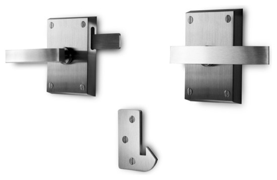 Alta Stainless Steel Modern Lever Gate Latch - Contemporary - Door Entry Sets - by 360 Yardware