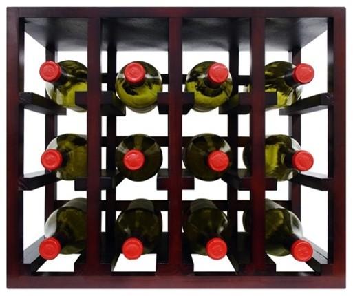 Vinotemp EPSTACK12 Epicureanist 12 Bottle Stackable Wooden Wine Rack modern-wine-racks