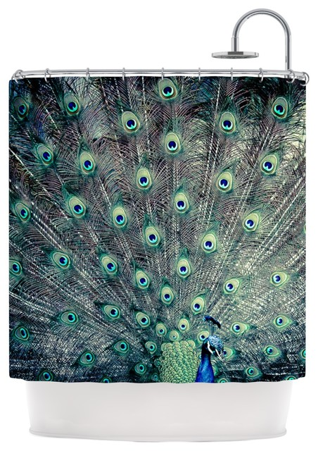 Ann Barnes Majestic Peacock Feather Shower Curtain