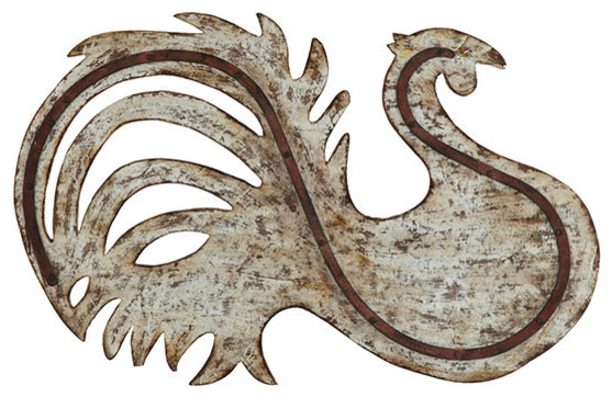 Industrial Metal Chanticleer Wall Art eclectic-artwork