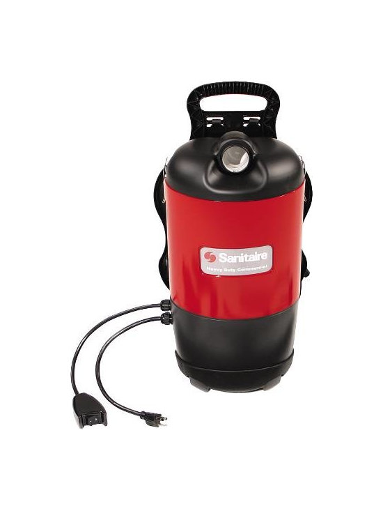 EUREKA - Sanitaire SC412 Back Pack Vacuum - Ideal for hard to reach places. Lightweight, easy to manage. Includes telescopic wands and separate floor tools for carpet and bare floor cleaning.