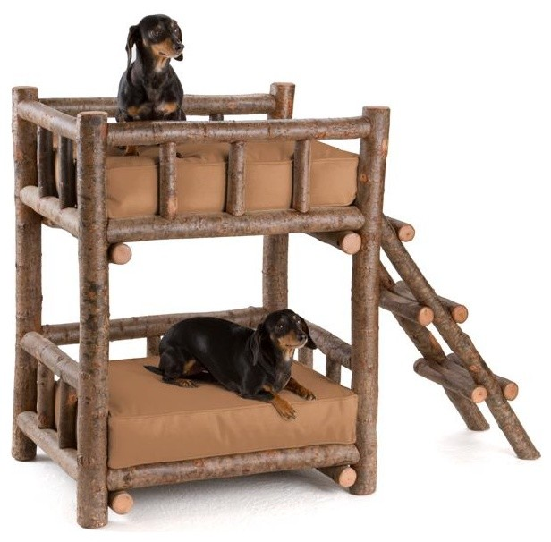 Rustic dog bunk bed 5134 by la lune collection rustic for Diy rustic bunk beds