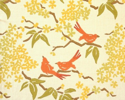 Birds Fabrics by Galbraith & Paul traditional upholstery fabric