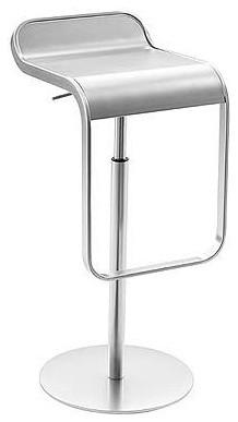 Lem Piston Stool Stainless Steel Modern Bar Stools