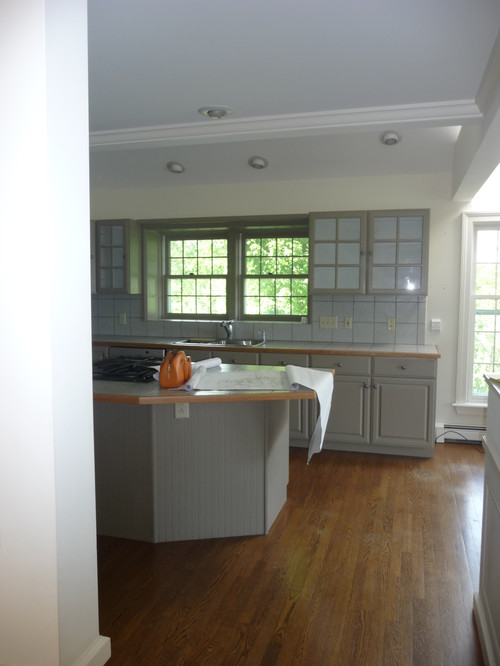 Kitchen Island Position Now That Wall Is Demo